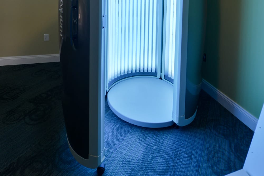 Tanning bed at Cabana Club and Galleria Club in Jacksonville, FL