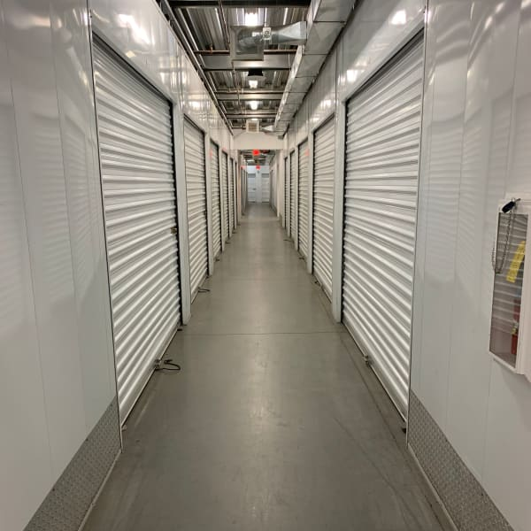 Indoor storage units at StorQuest Self Storage in Los Angeles, California