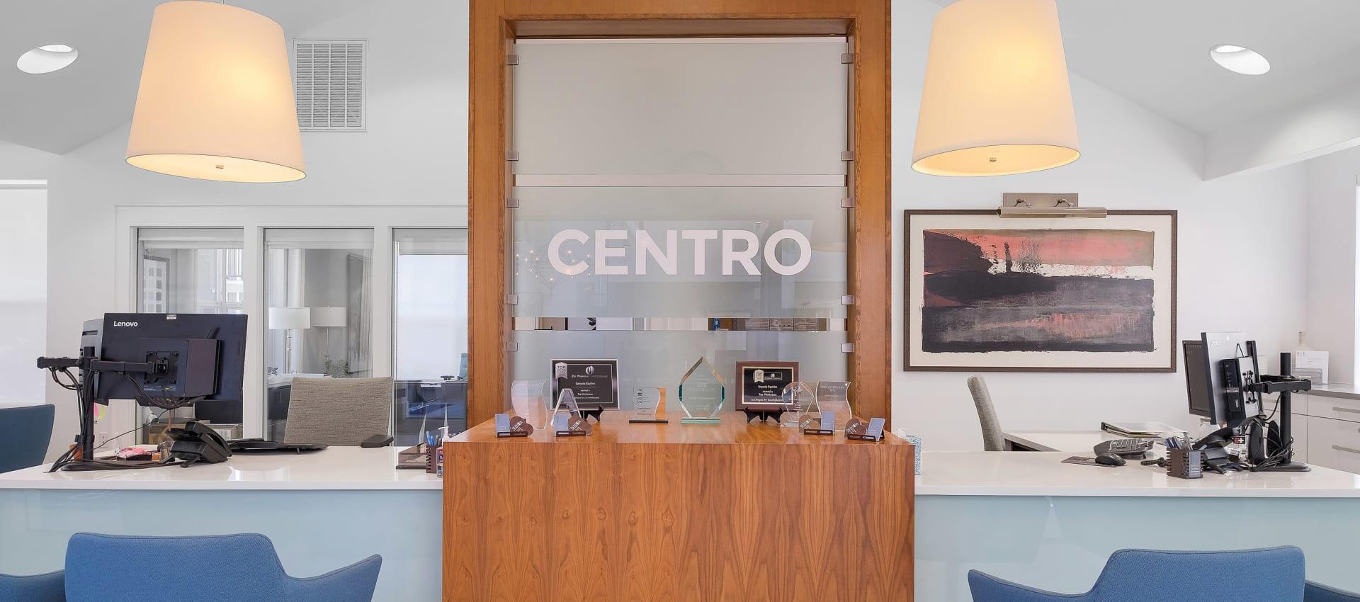 Business center at Centro Apartment Homes in Hillsboro, Oregon