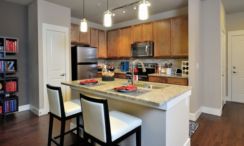 Spacious kitchen at apartments in Katy, Texas