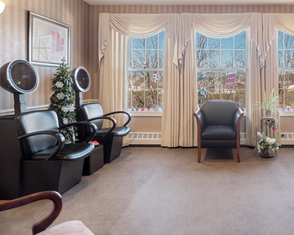 Hair salon at The Hearth at Sycamore Village in Fort Wayne, Indiana