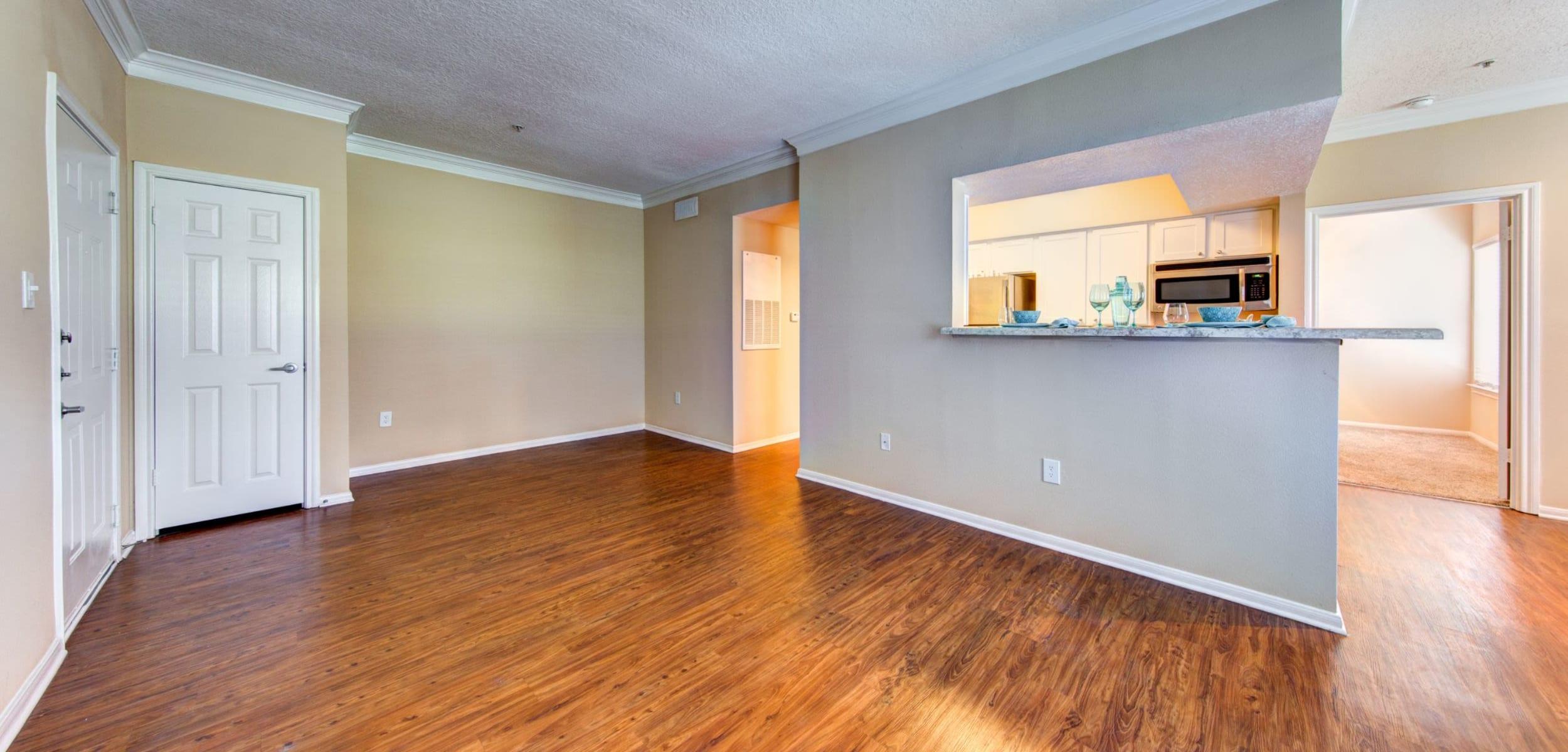 Living space at Marquis at Silverton in Cary, North Carolina