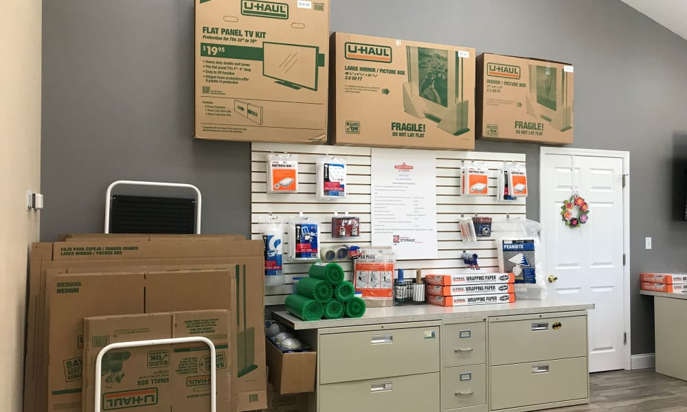 Packing supplies available for purchase at A Storage Solution of Destin in Destin, Florida