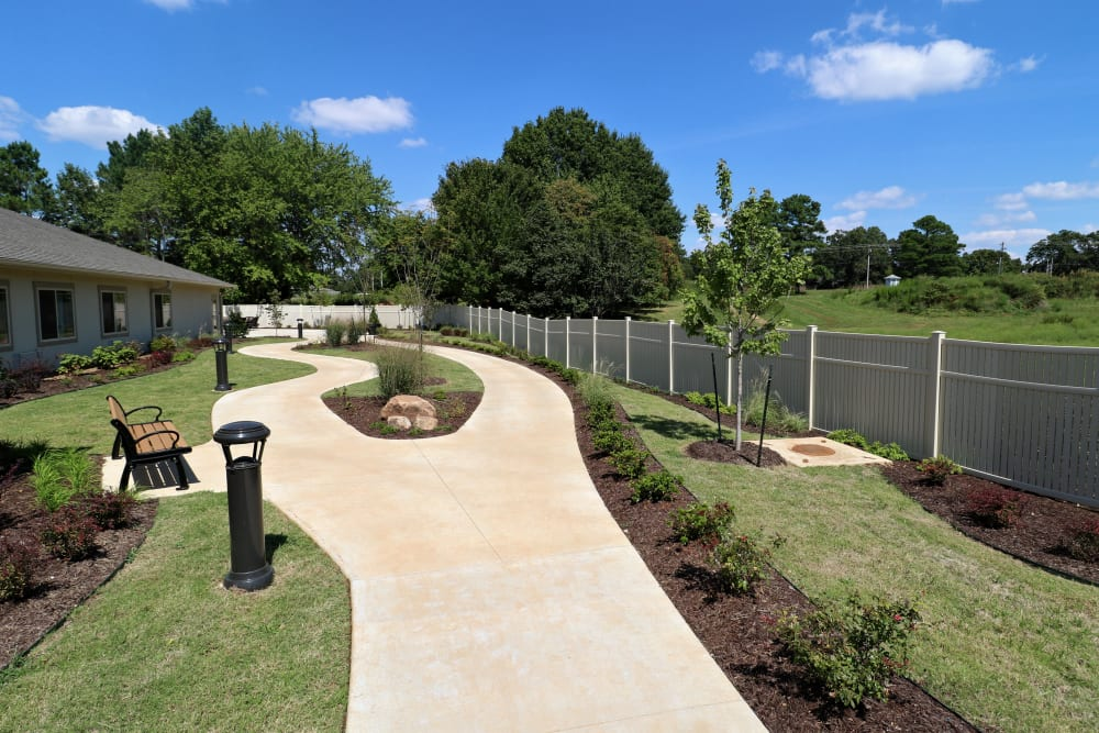 outside walkway at Magnolia Place Alzheimer's Special Care Center