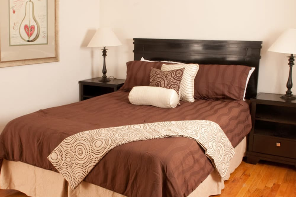 Bedroom model at King Alfred Apartments in Passaic, New Jersey
