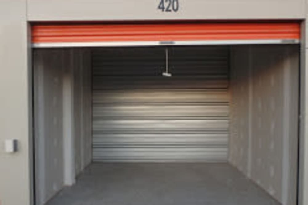 Inside view of a unit at Apple Self Storage - Thunder Bay - Intercity in Thunder Bay, Ontario