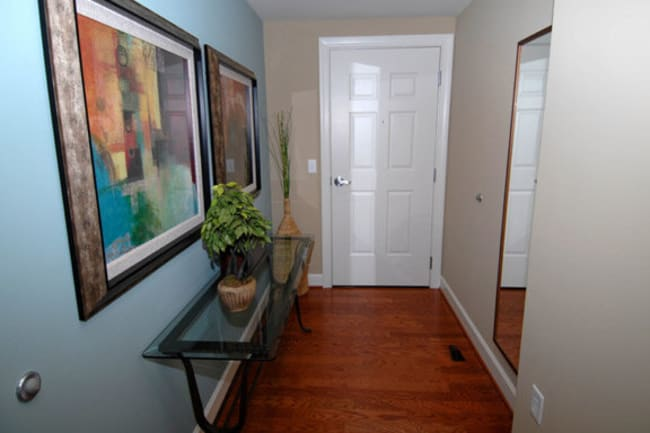 Model entryway at Argent Apartments in Silver Spring, Maryland