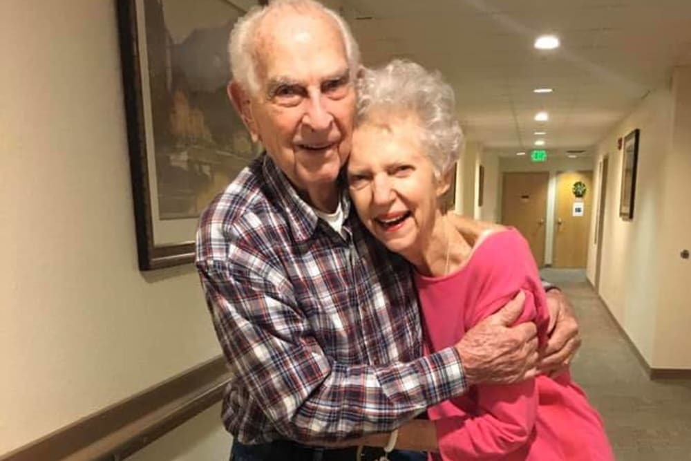 A happy couple at Balmoral Assisted Living in Lake Placid, Florida