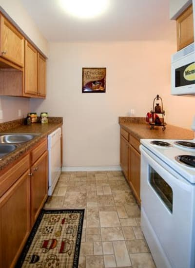 Kitchen at Summerfield Apartment Homes in Harvey