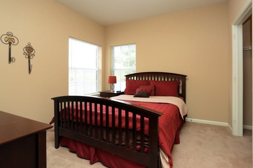Bedroom at Harbin Pointe Apartments in Bentonville, Arkansas
