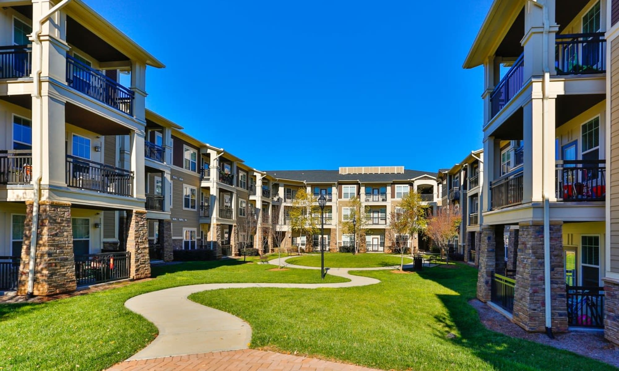 Apartments at Fountains at Mooresville Town Square in Mooresville, North Carolina