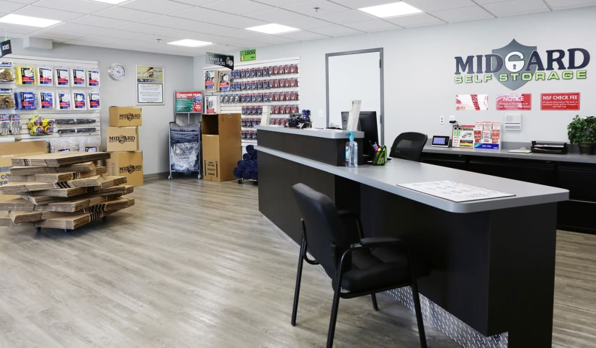 Leasing office at Clover Basin Self-Storage in Longmont, Colorado