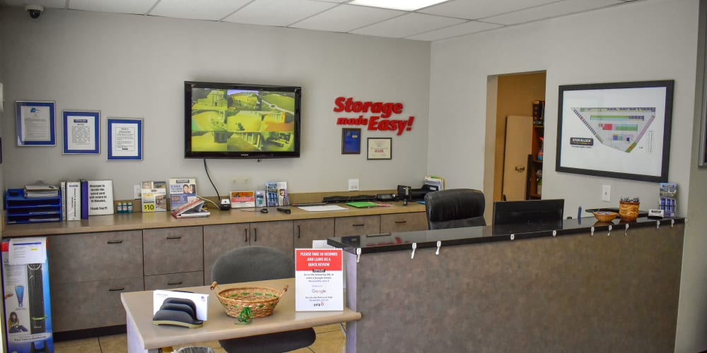 Inside the office at STOR-N-LOCK Self Storage in Riverdale, Utah