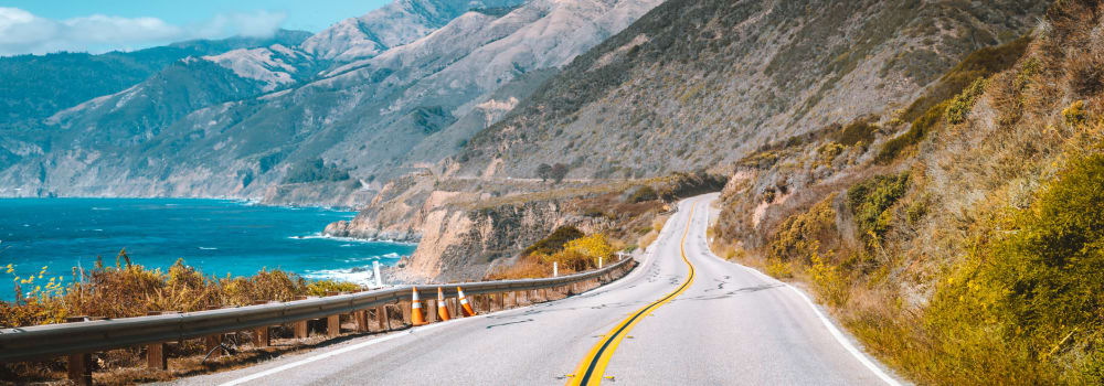 Scenic coastal highway in California near A Storage Place