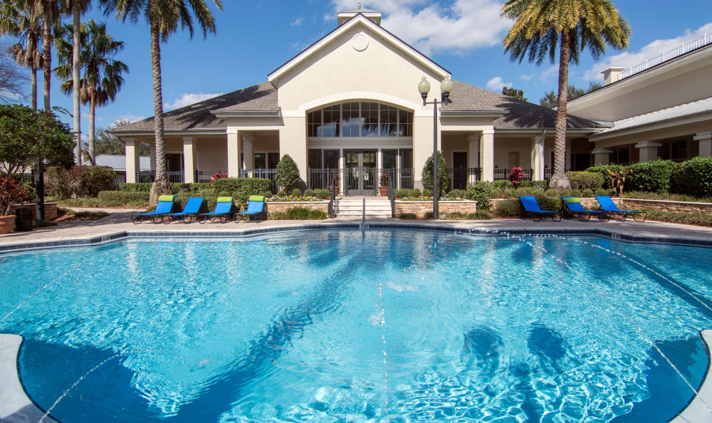 Sparkling pool at The Estates at Park Avenue in Orlando