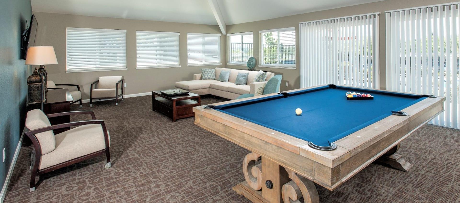 Pool table at Ridgecrest Apartment Homes in Martinez, California