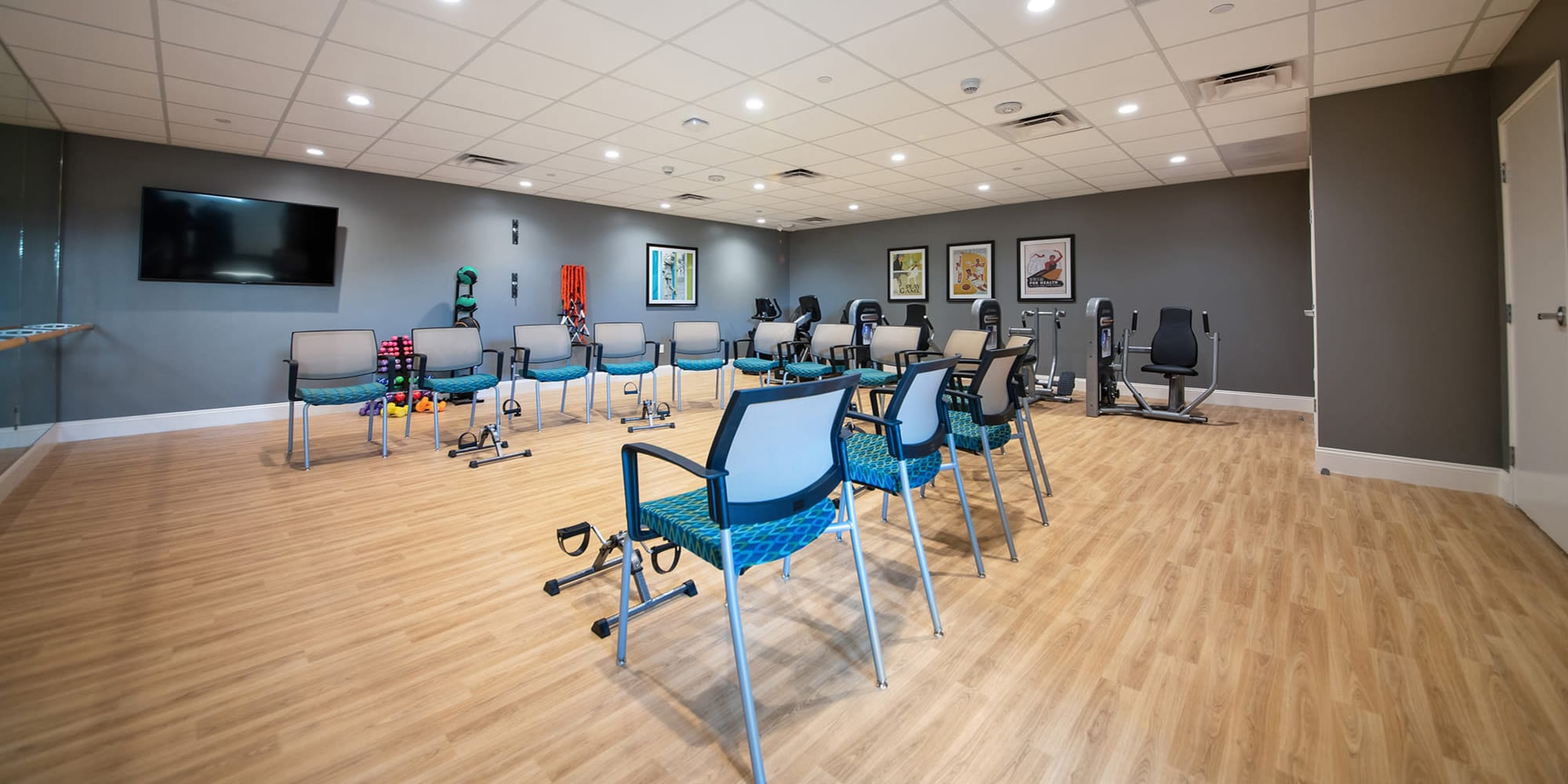 Fitness and common area at Regency Palms Oxnard