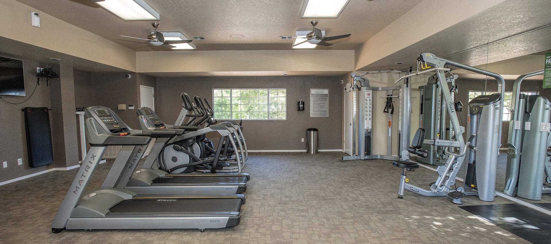 Fitness center at Shore Park at Riverlake in Sacramento, California
