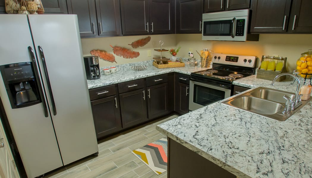 Fully equipped kitchen at Icon at Corpus Christi in Corpus Christi, Texas
