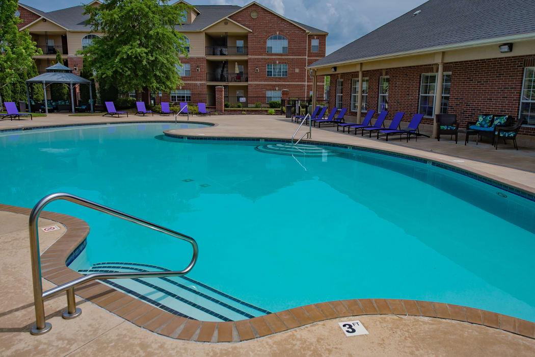 Beautiful pool at Lexington Park Apartment Homes in North Little Rock, Arkansas