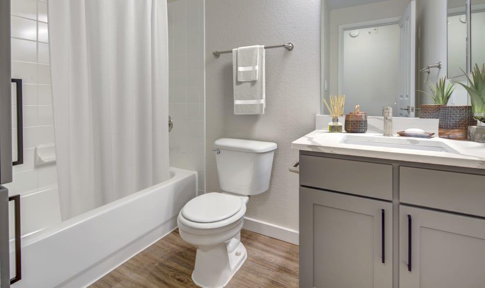 Well-decorated bathroom at Riata Austin in Austin, Texas