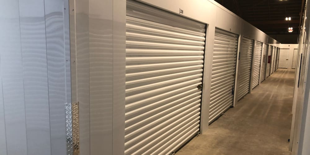 Large indoor climate controlled units at StorQuest Express - Self Service Storage in Sonora, California