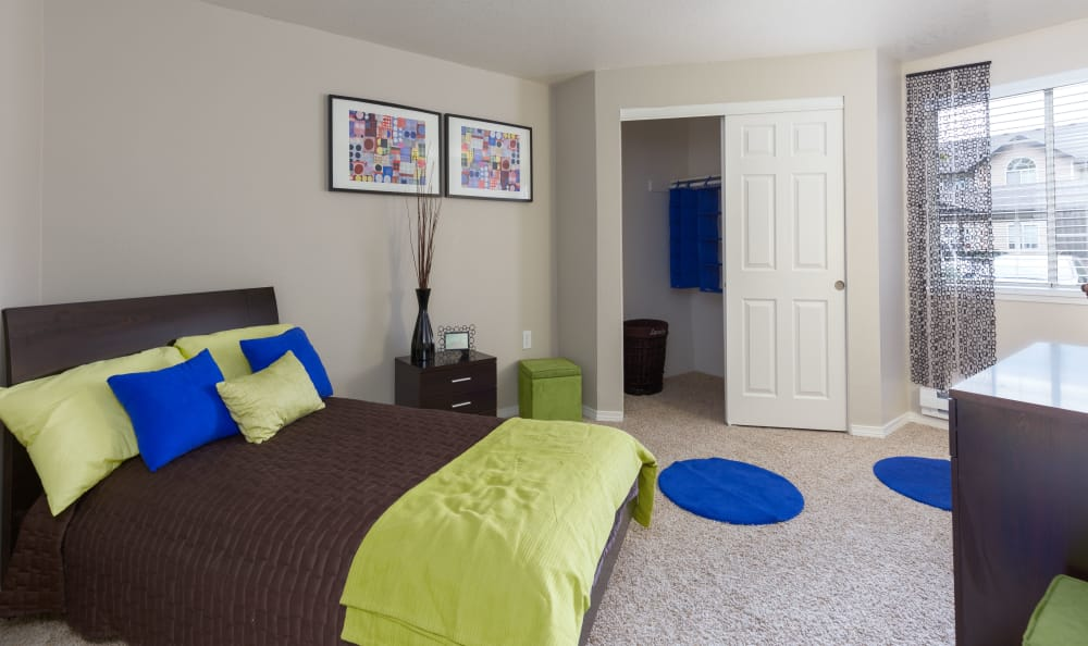 Well Decorated Bedroom at Walnut Grove Landing Apartments in Vancouver, WA