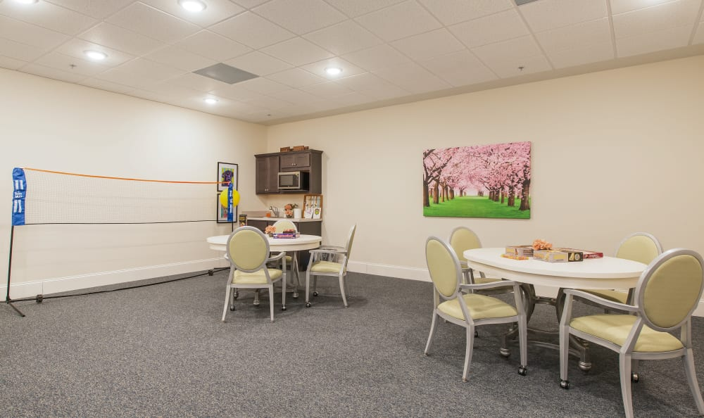 Our assisted living facility in Alpharetta, Georgia offer a fitness center
