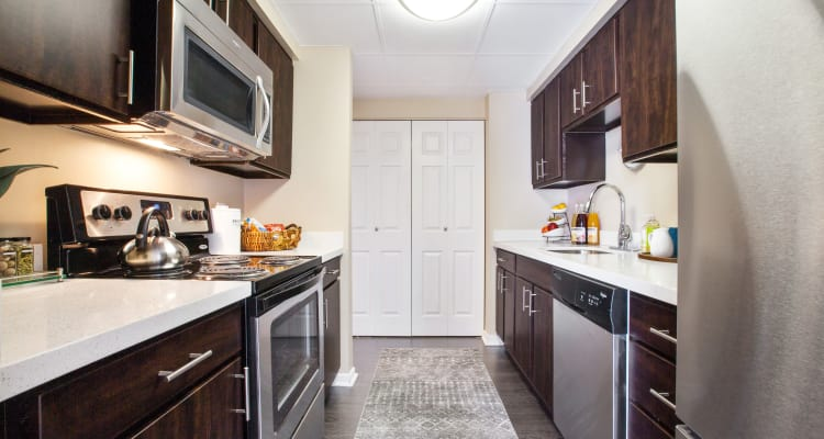 Fully-equipped kitchens at Prospect Place allow for endless culinary creations!