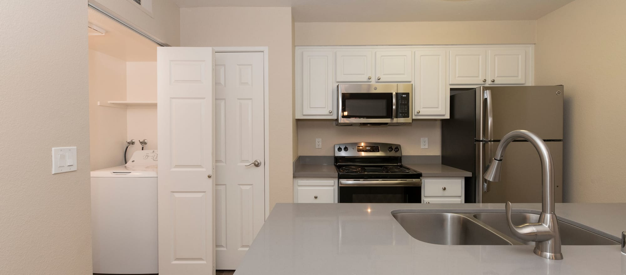 Sink in the kitchen at Sterling Heights Apartment Homes in Benicia, California