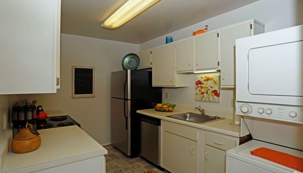 Kitchen at apartments in Virginia Beach, Virginia