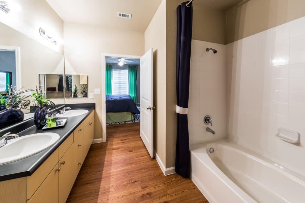Clean bathroom at Marquis at Canyon Ridge in Austin, Texas