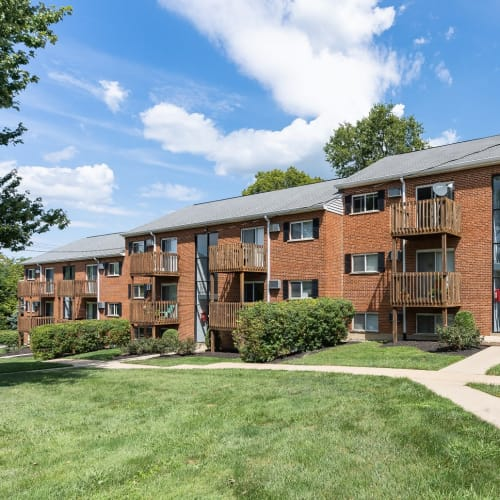 Patios and balconies at Centennial Woods Apartments in Cincinnati, Ohio