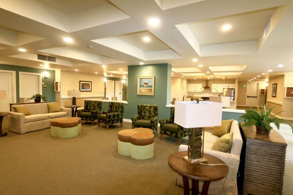 Common area at Westwind Memory Care in Santa Cruz, California