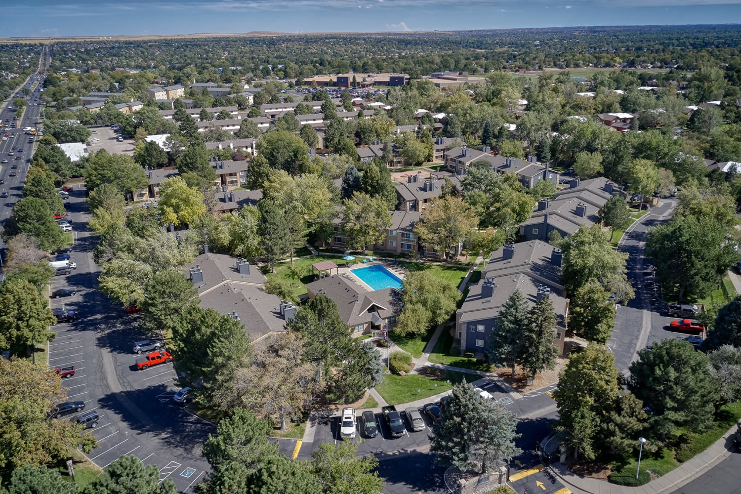 aerial photo of City Center Station Apartments in Aurora, Colorado