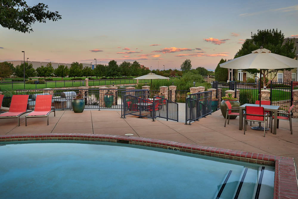 Pool Exterior View at Gateway Park Apartments in Denver, CO