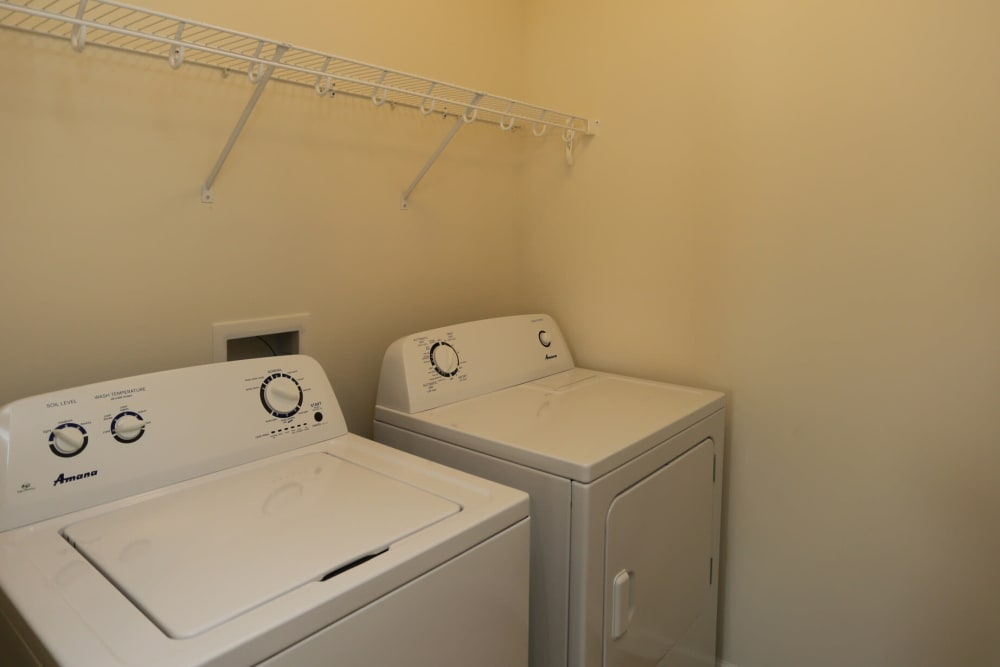 In-unit washer and dryer at The Ridge in Troy, New York
