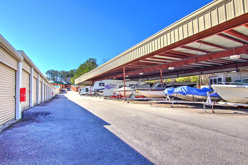 RV and boat storage at Prime Storage in Dallas, Georgia