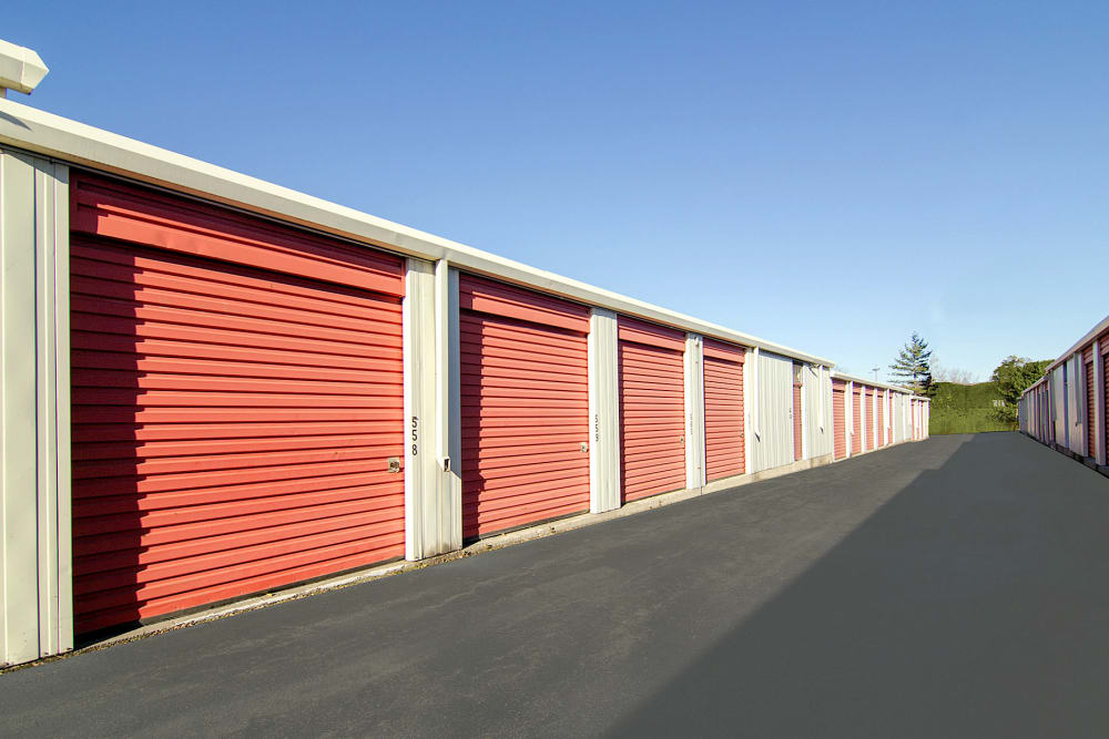 Outdoor storage units at Prime Storage in Albany, NY