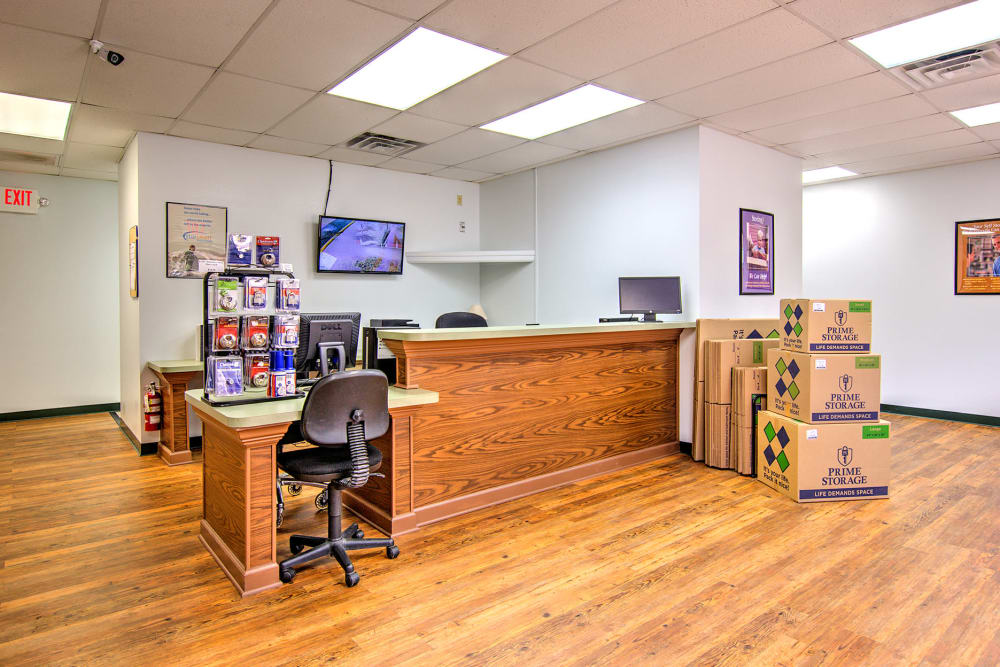 Front desk at Prime Storage in Glen Allen, Virginia