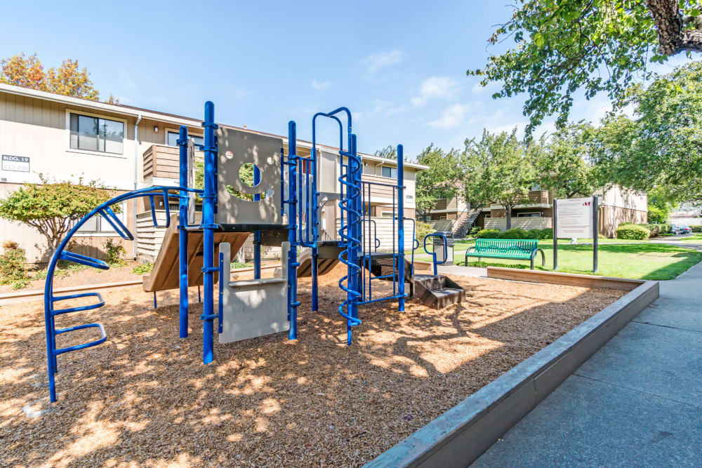 Living at Parkside Commons Apartments features a playground