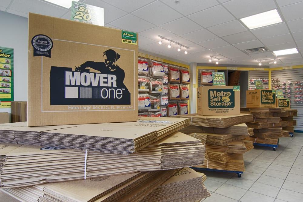 Packaging supplies at Metro Self Storage in Sarasota, Florida