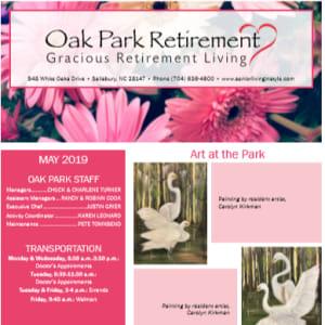 May Oak Park Retirement newsletter