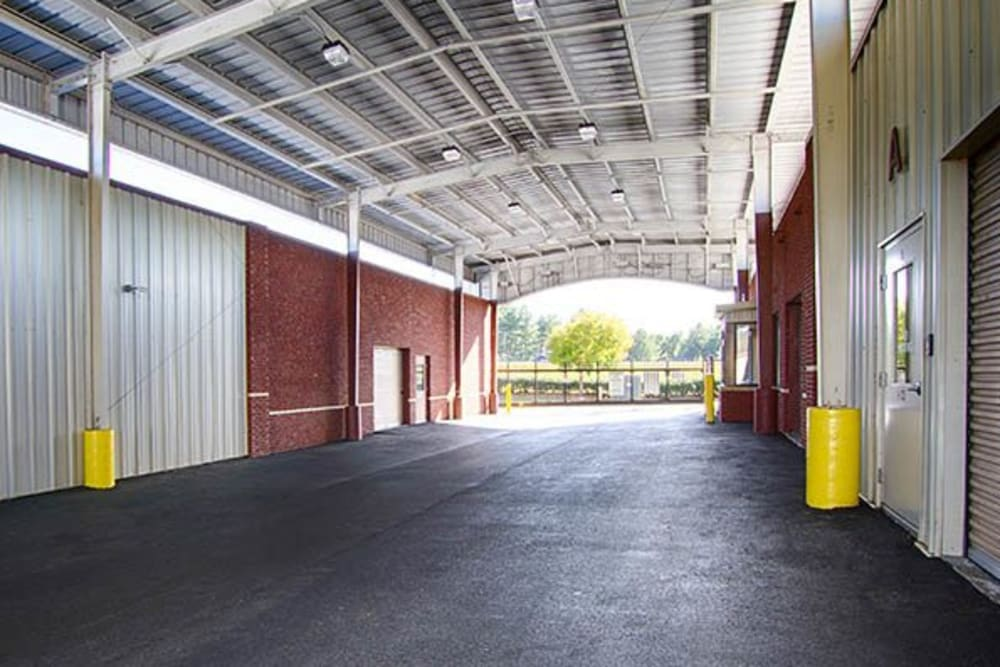 Drive-thru storage facility at Metro Self Storage in Rex, GA