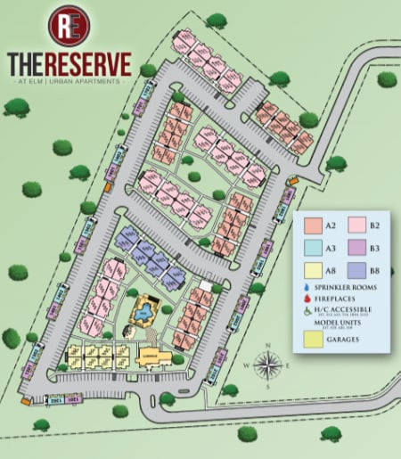 Site map for The Reserve at Elm in Jenks, Oklahoma