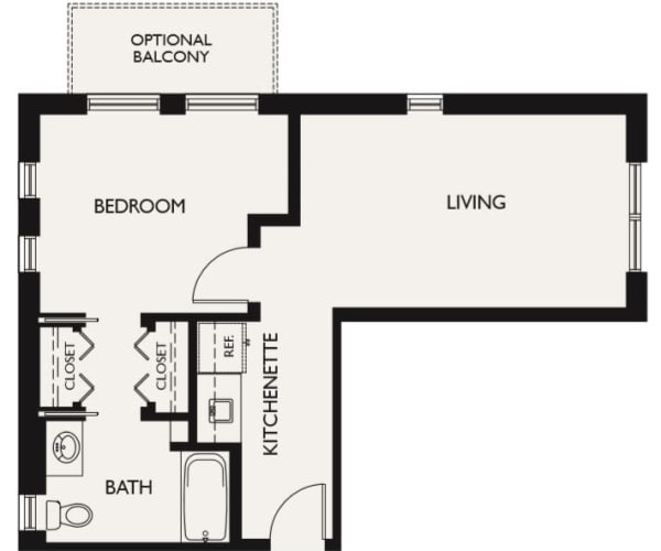 Plan H floor plans at The Inn at Greenwood Village in Greenwood Village, Colorado