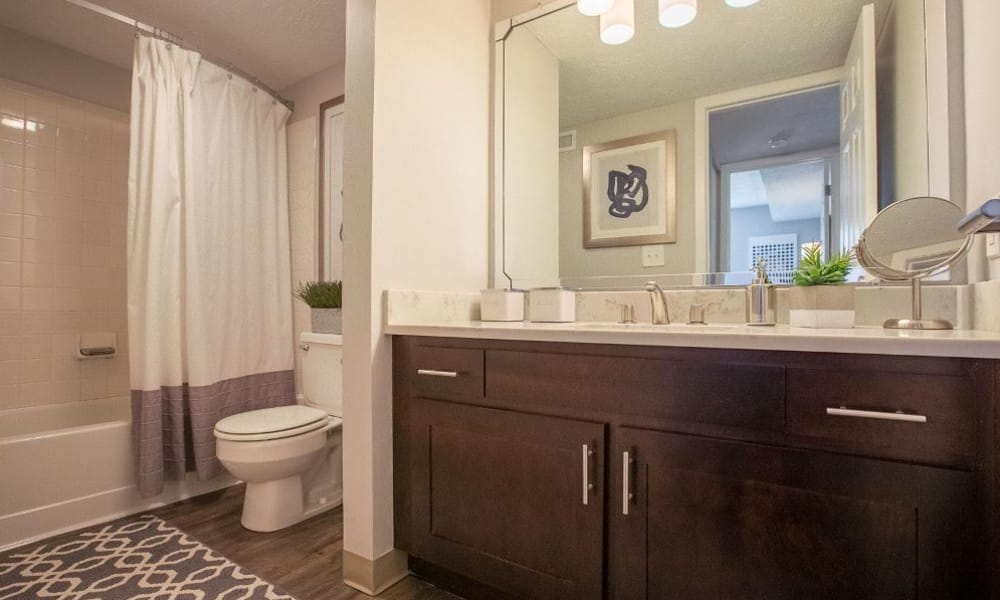 Our apartments in Westlake, Ohio offer a bathroom