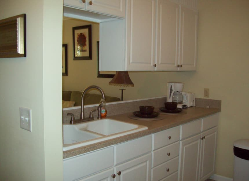 Kitchen in senior apartment in Mt. Pleasant, South Carolina