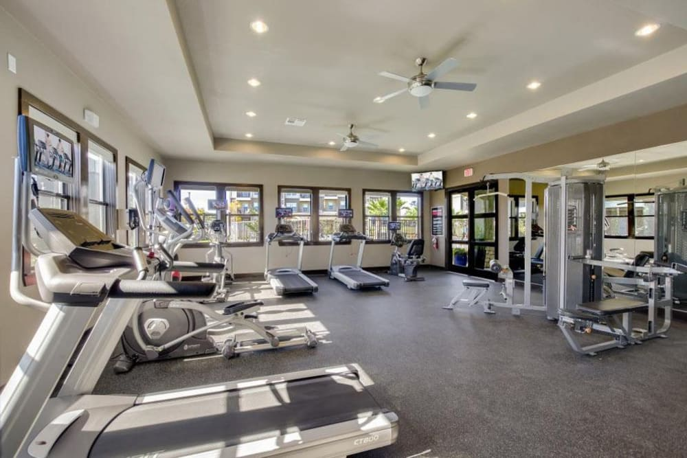 Spacious and well-equipped fitness center at Verandas at Alamo Ranch in San Antonio, Texas