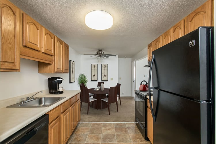 Perinton Manor Apartments offers a beautiful kitchen in Fairport, New York